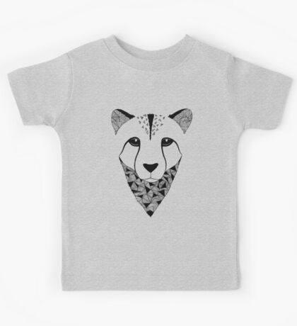Cheetah black and white Kids Tee