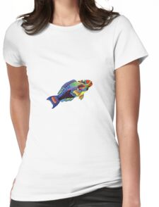 Parrot fish Womens Fitted T-Shirt