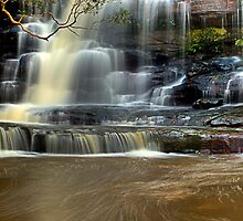 Muddy Waters - Somersby Falls, NSW by Malcolm Katon