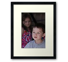 Zoe and Marcus Framed Print