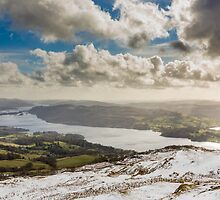 Windermere from Wansfell Pike, Lake District by Chris Tarling
