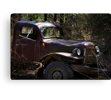 Rustic Antique Truck Art Canvas Print