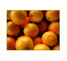 a bunch of oranges Art Print