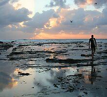 Sunrise surfer by Marjorie Kibby