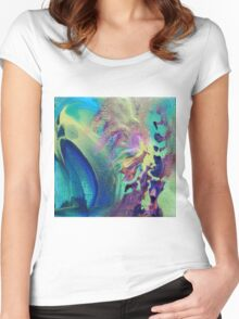 """""""Eclectic"""" original abstract artwork Women's Fitted Scoop T-Shirt"""