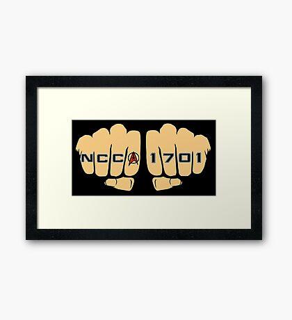 Star Trek NCC 1701 Fist Tattoos Framed Print
