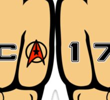Star Trek NCC 1701 Fist Tattoos Sticker