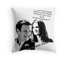 Boyhood Dream B/W Throw Pillow