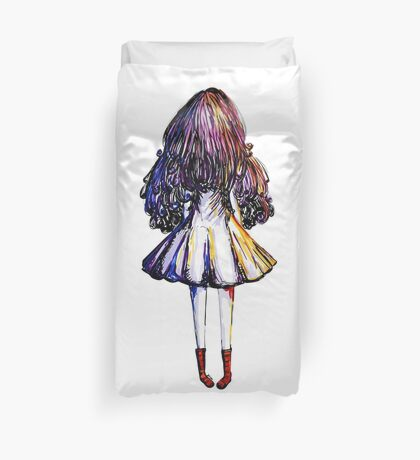 Girl and Red Doc Duvet Cover