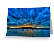Blue Storm - Newport - The HDR Experience Greeting Card