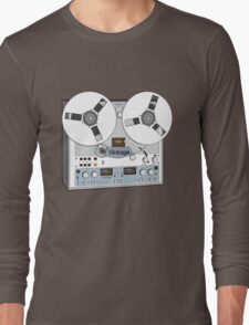 Reel Vintage Tape Deck Long Sleeve T-Shirt