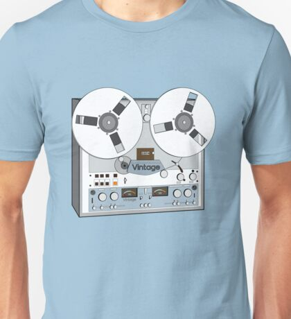Reel Vintage Tape Deck Unisex T-Shirt