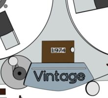 Reel Vintage Tape Deck Sticker