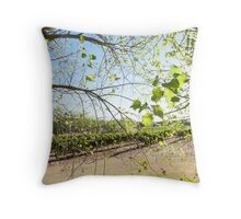 Light and Airy, Leaf and Fairy Throw Pillow