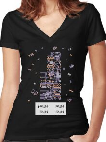 A Wild Missingno. appeared! Women's Fitted V-Neck T-Shirt