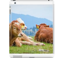 Cows in a mountain landscape iPad Case/Skin