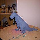 dinosaur with black wash by shane71