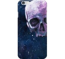 floating skull in space iPhone Case/Skin