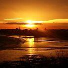 Sunset over Bridlington by Merice Ewart Marshall - LFA