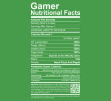 Gamer Nutritional Facts Kids Clothes