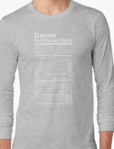 Gamer Nutritional Facts Long Sleeve T-Shirt
