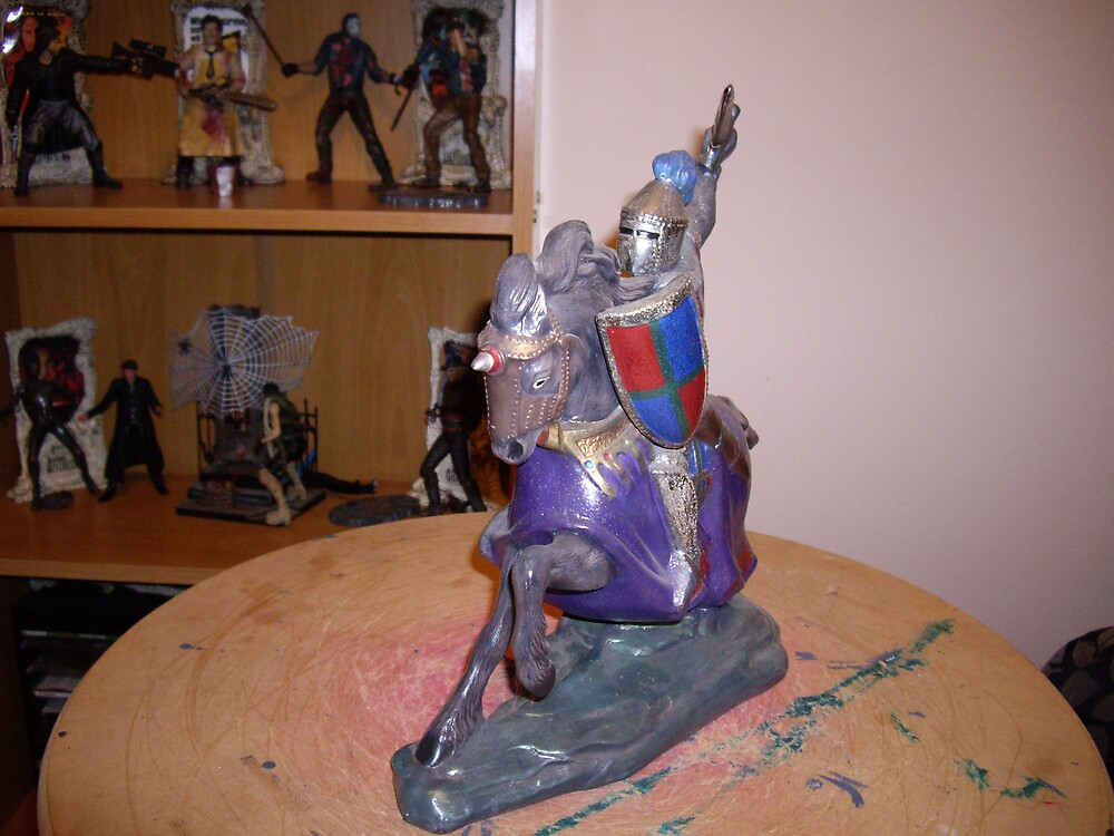 knight and his horse in shining armour by shane71