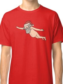 Rick & Morty - Giant Naked Sky Santa! Classic T-Shirt