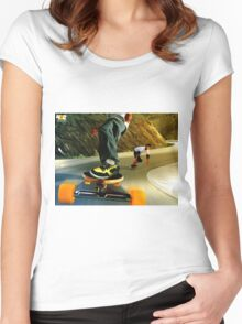Descenso longskate Women's Fitted Scoop T-Shirt
