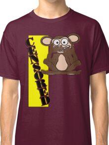 Censored Monkey Tee Design 1 (Fur) Classic T-Shirt