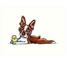 Colored Boston Terrier Art Print