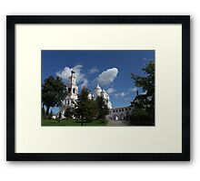 view of Orthodox monastery  Framed Print