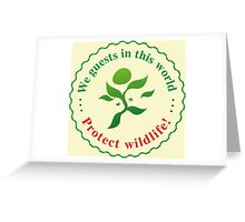 "Emblem ""Protect wildlife!"" Greeting Card"