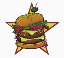 Cheeseburger Cheeseburger Cheeseburger One Piece - Short Sleeve