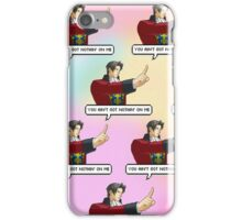 You Ain't Got Nothing Against Miles Edgeworth iPhone Case/Skin