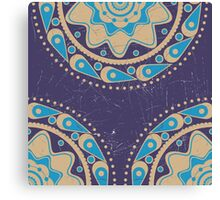 Grunge blue ornament Canvas Print