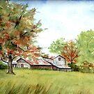 Granville Farmhouse in Fall by LinFrye