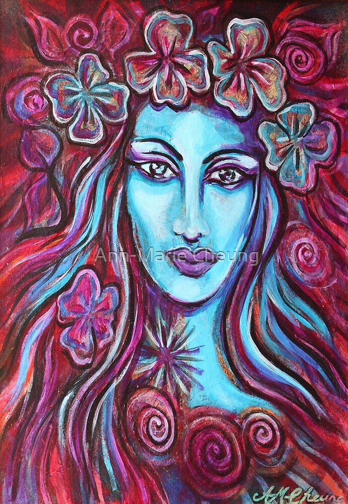 Goddess Kali in the Garden by Ann-<b>Marie Cheung</b> - flat,1000x1000,075,f.u2