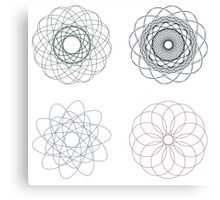 Colorful Spirographs Canvas Print