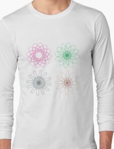 Colorful Spirographs 2 Long Sleeve T-Shirt