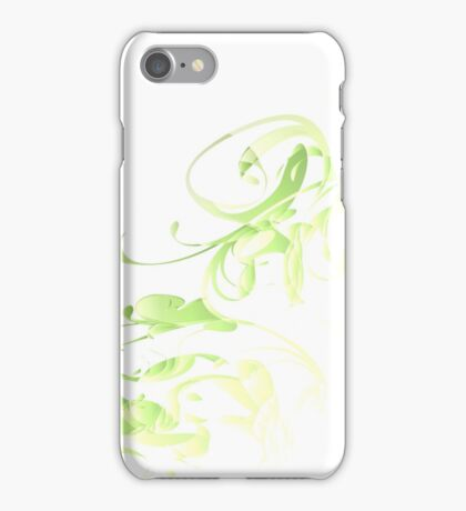 Green floral iPhone Case/Skin