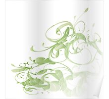 Green floral Poster
