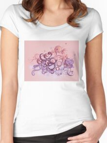 Pink ornament 2 Women's Fitted Scoop T-Shirt