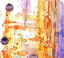 Abstract watercolor design by Nicolaiivanovic
