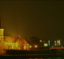 KAUNAS at NIGHT by Antanas