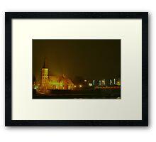KAUNAS at NIGHT Framed Print