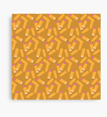 Pencil pattern Canvas Print