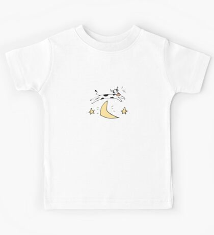 Cow jumping over the moon Kids Tee