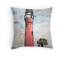 St Johns River Florida Lighthouse Throw Pillow