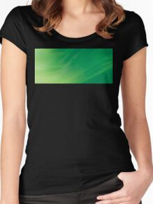 Peaceful Spring Breeze Abstract Art Women's Fitted Scoop T-Shirt