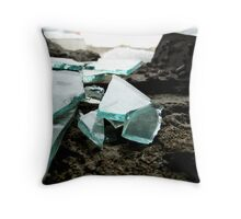 Ice and glass - St. Petersburg, Russia. Throw Pillow